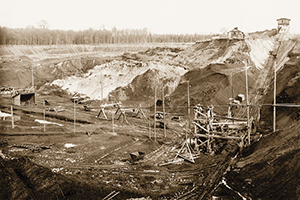 Ehemaliger Tagebau in der Grube Prinz von Hessen